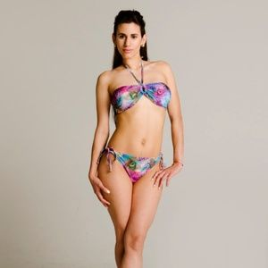 Other - RETRO PEACOCK TWO PIECE BIKINI SET